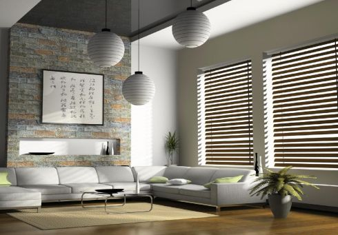 Window trio with a 50cm wood-slat Venetian blind, €145 each until September 7th at Ambiance Interiors, Greystones. (ambianceinteriors.ie)