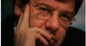 Former taoiseach Brian Cowen: subject of interview on TG4 to be broadcast next week. Photograph: Bryan O'Brien