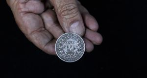 An East India Company one rupee coin dating back to 1835. REUTERS/Anindito Mukherjee