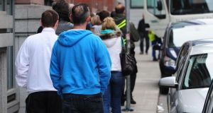 The rate of unemployment has gone from 13.8 per cent to 13.7 per cent over the second quarter of 2013, according to new figures released by the Central Statistics Office. Photograph: Aidan Crawley/The Irish Times