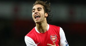 Mathieu Flamini has rejoinerd Arsenal after five years at AC Milan. Photographh: Nick Potts/PA Wire