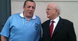 Billy Brannigan with Jimmy Magee, before he began his training.