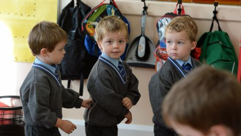 Rossa soon makes friends in his new class at Star of the Sea primary school in Sandymount, Dublin. Photograph: Frank Miller / The Irish Times
