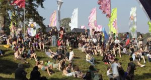 Festival goers in the Body and Soul Arena at the Electric Picnic Festival at Stradbally House in Co Laois