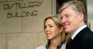 Pat Kenny and his wife Kathy. Photograph: Garrett White