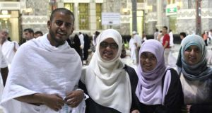 Irish siblings (left to right) Ibrihim Halawa with sisters Fatima, Omaima and Somaia.