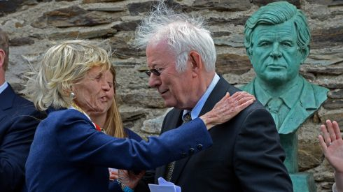 Jean Kennedy Smith and Seamus Heaney  at the opening of the Kennedy Homestead and visitor centre, at New Ross , Co. Wexford, in June 2013. Photograph: Eric Luke/The Irish Times
