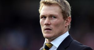 Former England World Cup-winning full-back Josh Lewsey has been appointed head of rugby for Wales, the Welsh Rugby Union has announced. He will start work with the WRU at the end of September. Photograph:  David Davies/PA Wire