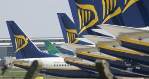Low-cost airline Ryanair slipped 0.3 per cent to €6.61 in Dublin yesterday. Photograph: Alan Betson/The Irish Times