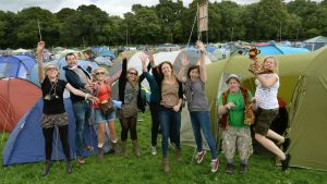 Rearing to go on the first day of the Electric Picnic at Stadbally, Co Laois. Photograph: Brenda Fitzsimons/The Irish Times