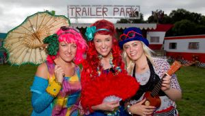 Lucy McCarron, Claire Kehoe and Holly O'Sullivan at the Electric Picnic launch. Photograph: Liam McBurney/PA Wire