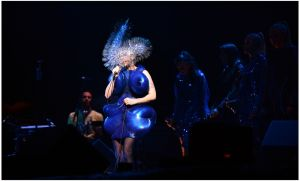 Björk on the main stage at Electric Picnic,  Stradbally Co Laois.Photograph: Brenda Fitzsimons / The Irish Times