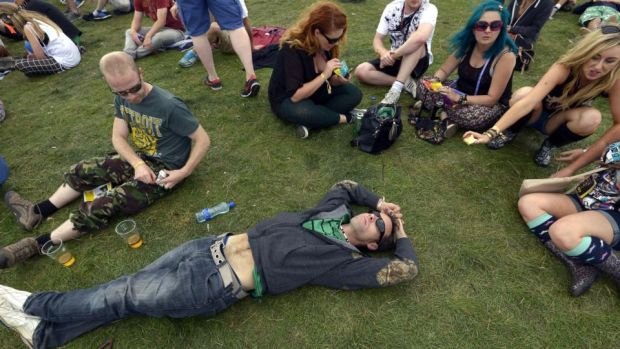 Chill out time at Electric Picnic Festival, Stradbally Co.Laois.Photograph: Brenda Fitzsimons / The Irish Times