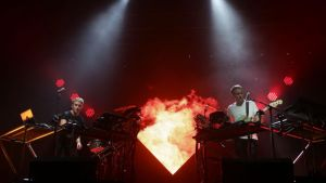 Disclosure performing on at the Reading Festival. Photograph: Yui Mok/PA Wire