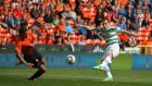 Celtic's Anthony Stokes scored the winner against Dundee United at Tannadice Park. Photograph: Andrew Milligan.