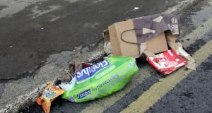 Litter on Lelia Street, Limerick. Photograph: Brian Arthur/ Press 22