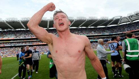Dublin's Paul Flynn celebrates after his side's win. Photograph: James Crombie/Inpho