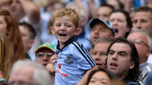 Come on ya boy in blue! Photograph: Dara Mac Dónaill/The Irish Times