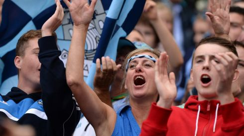 Dublin fans celebrate. Photograph: Dara Mac Dónaill/The Irish Times