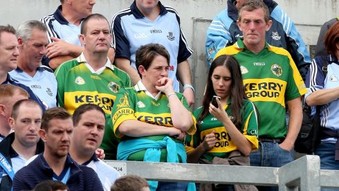 Dejected Kerry fans after the game. Photograph:  Photograph: James Crombie/Inpho