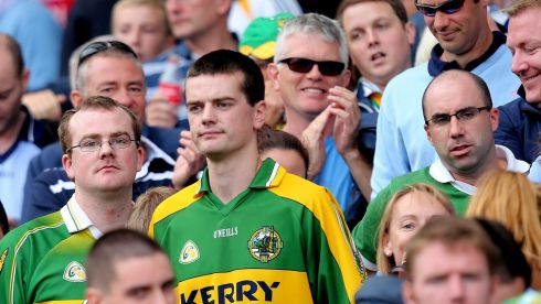 Kerry fans disconsolate. Photograph: James Crombie/Inpho