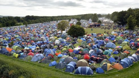 Camping all together at the Picnic. Photograph: Brenda Fitzsimons/The Irish Times