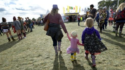 A family takes a stroll. Photograph: Brenda Fitzsimons/The Irish Times