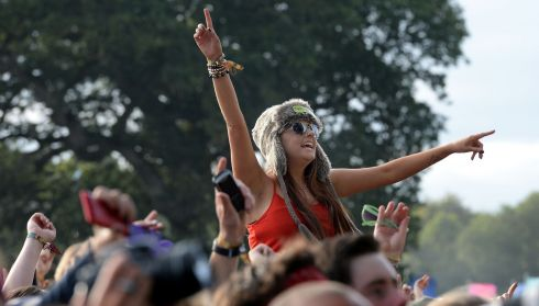 The right way to enjoy Kodaline. Photograph: Brenda Fitzsimons/The Irish Times