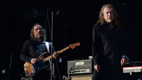 Robert Plant with his Sensational Space Shifters on the Main Stage. Photograph: Brenda Fitzsimons/The Irish Times