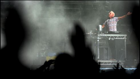Fat Boy Slim creates some noise the Main Stage.  Photograph: Brenda Fitzsimons/The Irish Times