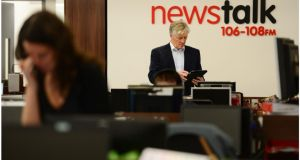 Pat Kenny kicked off his new show on Newstalk radio today. Photograph: Bryan O'Brien