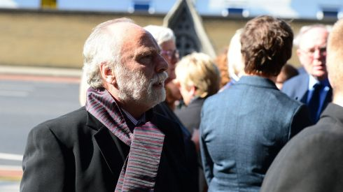 Brian Keenan arrives for the funeral of Seamus Heaney. Photograph: Bryan O'Brien/The Irish Times