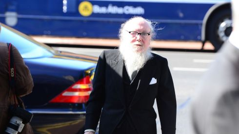 Poet Garech De Brun arrives at the Church of the Sacred Heart, Donnybrook. Photograph: Bryan O'Brien/The Irish Times