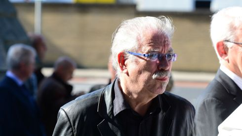 Artist Robert Ballagh in attendance. Photograph: Bryan O'Brien/The Irish Times