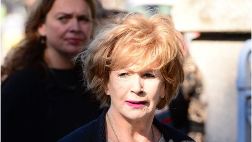 Author Edna O'Brien arrives for the Heaney funeral. Photograph: Bryan O'Brien/The Irish Times