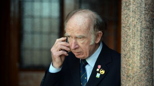 Poet Barney Sheehan of Whitehouse,  Limerick, at the Heaney funeral. Photograph: Cyril Byrne/The Irish Times