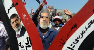 Egyptian supporters of ousted president Mohamed Morsi. Photograph: Fayez Nureldine/AFP/Getty