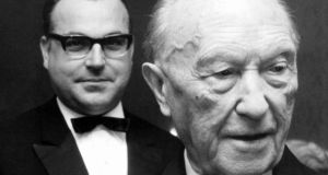Helmut Kohl and Konrad Adenauer in 1967. Photograph: Reuters