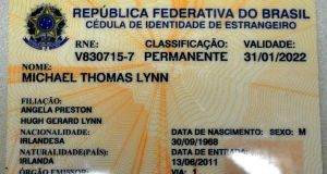 Michael Lynn's Brazilian ID card.