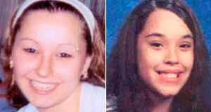 Amanda Marie Berry (L) and Georgina Lynn Dejesus are pictured in this combination photograph in undated handout photos released by the FBI. Berry, missing since April 2003, when she was 16, and Dejesus, missing since April 2004, when she was 14, were found in Cleveland, Ohio May 6th, not far from where they were abducted. A third girl, Michelle Knight, was found at the same house. Photograph: FBI/Handout/Reuters