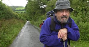 Seán Mac Connell hiking in Wicklow in 2004. Photograph: Bryan O'Brien/The Irish Times