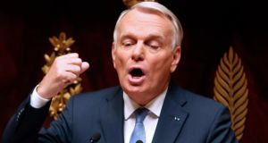 French prime minister Jean-Marc Ayrault makes the case for intervention in Syria on moral grounds during a parliamentary debate at the national assembly in Paris yesterday. Photograph: Reuters/Charles Platiau