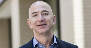 Jeff Bezos, founder and chief executive officer of Amazon Inc, agreed last month to buy the Washington Post for $250 million. Photograph: TJ Kirkpatrick/Bloomberg
