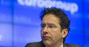 Jeroen Dijsselbloem, the Netherlands's finance minister and president of the Eurogroup, said there would be support measures to smooth ireland's exit from bailout.  Photograp: Jock Fistick/Bloomberg
