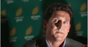 Green Party leader Eamon Ryan has accused the government of arrogance in its approach to Seanad abolition. Photograph: Brenda Fitzsimons/The Irish Times