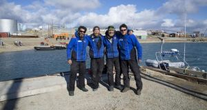 Paul Gleeson, Frank Wolf, Kevin Vallely and Denis Barnett at Cambridge Bay
