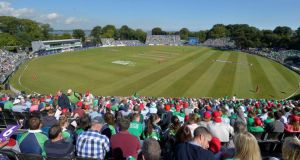 A view of the Malahide ground during Tuesday's RSA One-Day Challenge  between Ireland and England. Photograph: Rowland White/Inpho/Presseye