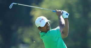 Anirban Lahiri of India: his eight under par round of 63 included two eagles. Photograph:  Richard Heathcote/Getty Images