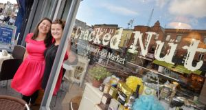 Kelda Clermont and Nikki Carruthers, sisters and owners of Cracked Nut on Dublin's Camden Street. Photograph: Alan Betson