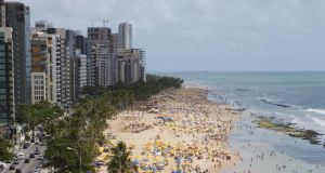 Brazilian beginnings: the beach at  Recife. Photograph: Holger Leue/Getty Images